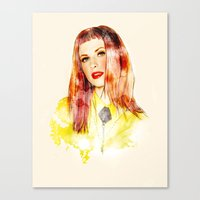 hayley williams Canvas Prints featuring Hayley Williams by jassinta