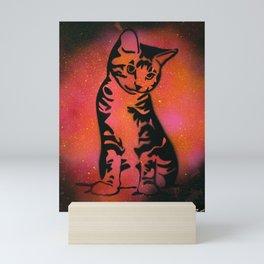 Orange Kitten Mini Art Print