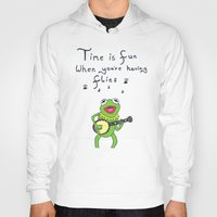 kermit Hoodies featuring Muppets Kermit by BlackBlizzard