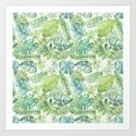 Tropical Branches Pattern 08 by serigraphonart