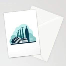 Kansas City in the Clouds - Blue Stationery Cards