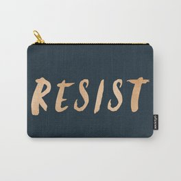RESIST 7.0 - Rose Gold on Navy #resistance Carry-All Pouch