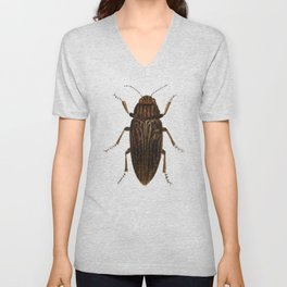 Lithograph of Pine Borer (Chalcophora Mariana) Insect Unisex V-Neck
