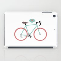 cycling iPad Cases featuring I love cycling by Karin Bijlsma