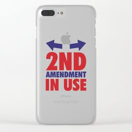 2nd Amendment in Use Funny Lifting T-shirt Clear iPhone Case