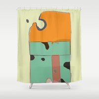 cheese Shower Curtains featuring THE CHEESE by  ECOLARTE