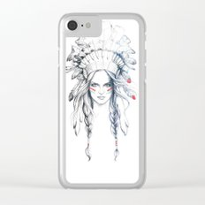 Indian Woman Clear iPhone Case