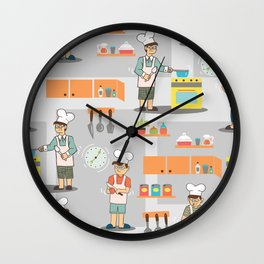 Young Chef Wall Clock