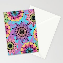 Vibrant Abstract Floral Pattern Stationery Cards