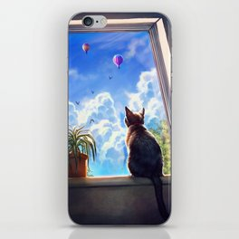 It's a big world out there iPhone Skin