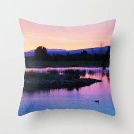 Boise Idaho  Throw Pillow
