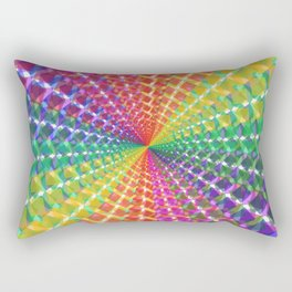 Colorful mosaic pattern design artwork- colorful christmas gifts- pixel art Rectangular Pillow