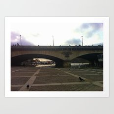 Paris: Bridge over the Seine Art Print