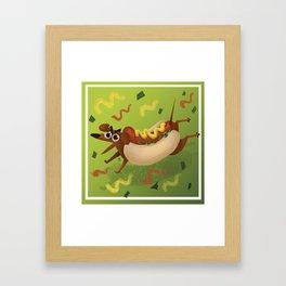 Hot Dog Run Framed Art Print