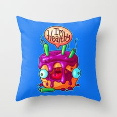 Lying Cake Throw Pillow