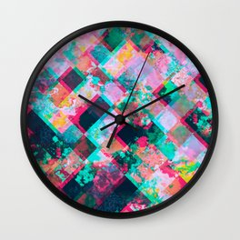 Square garden Wall Clock