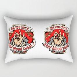 Blood Sugar, Tattoo, Tattoostyle, Tattooart, Flashtattoo, Rectangular Pillow