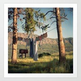 Shoshone Laundry Art Print
