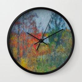 Fall wind Wall Clock