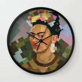Frida Kahlo Cubed Wall Clock
