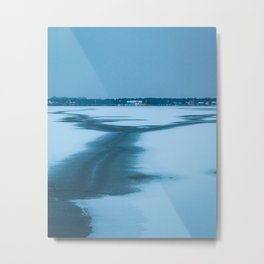 Frozen lake Palic Metal Print
