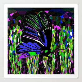 Butterfly Night Art Print