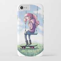 princess bubblegum iPhone & iPod Cases featuring bubblegum princess by Martina Naldi