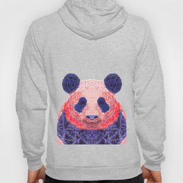 Don't Be Scared To Be Different If You're Already Rare (Panda Animal Painting Stippled Pop Art) Hoody