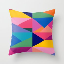 Geometric Color Block Throw Pillow