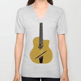 Acoustic Guitar illustration Unisex V-Neck