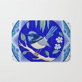 Blue Wren Beauty Bath Mat