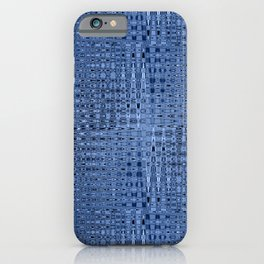 Busy Blue Mosaic Millefiori Zigzag Pattern iPhone Case
