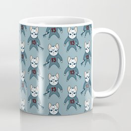 Frenchie the 13th waiting for you with an ax on Halloween Coffee Mug