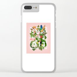 SUMMER of 13 Clear iPhone Case