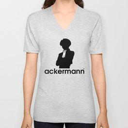 ackermann logo Unisex V-Neck