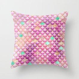 Mermaid Scales 14 Throw Pillow
