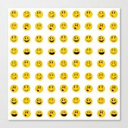 Cute Emoji pattern Canvas Print