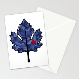 MAPLE LEAF IN BLUE Stationery Cards