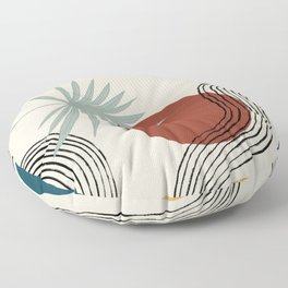 palms and colors Floor Pillow