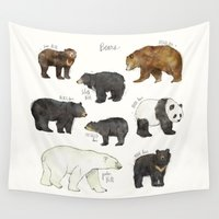 dwight Wall Tapestries featuring Bears by Amy Hamilton