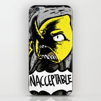lemongrab iPhone & iPod Skins featuring UNACCEPTABLE!!! by Eevachu