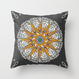 Crotchet Mandala Throw Pillow