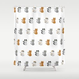 Pixel Cats Shower Curtain