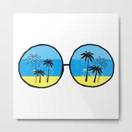Beach Vision Metal Print