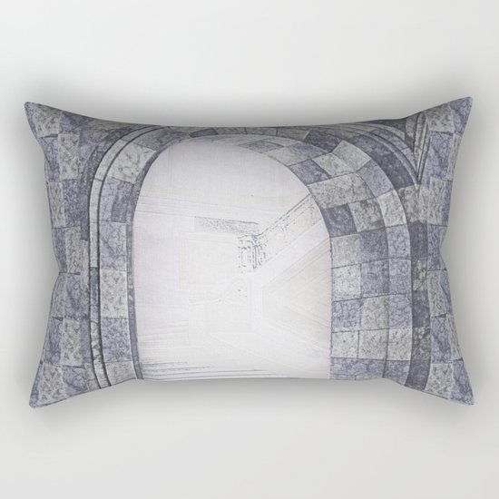 Neither coming nor going Rectangular Pillow