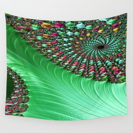 Carnival Green Wall Tapestry