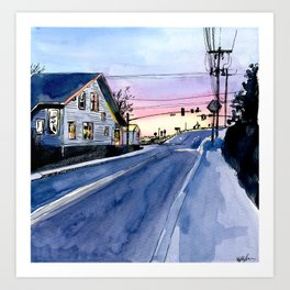 Chincoteague Sunset 3 Art Print