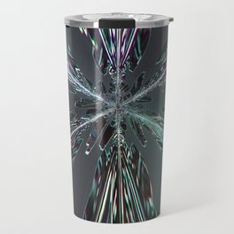 Abstract pattern leggings tshirts from snowflakes: Clouds Make Crystals into Feathers Travel Mug
