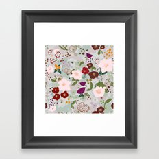 Rainy Day Floral Framed Art Print
