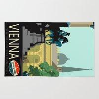 vienna Area & Throw Rugs featuring Visit Vienna by Duke Dastardly